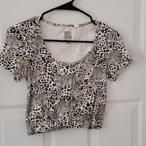 White Jaguar crop top